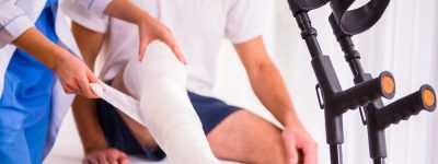 broken leg representing disability insurance