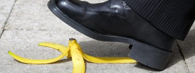 man slipping representing general liability insurance